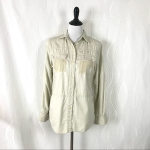 Ralph Lauren Safari Shirt Long Sleeve Button